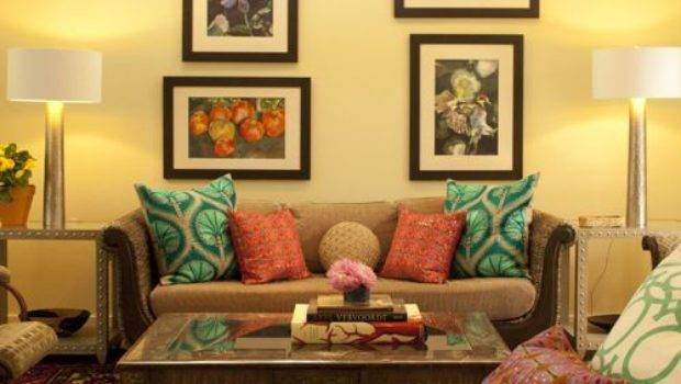 Yellow Brown Sofa Home Design Ideas Remodel