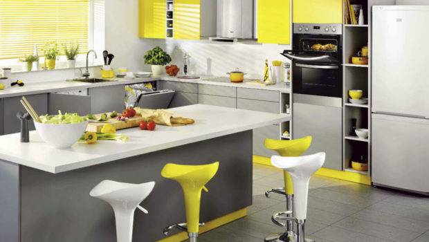 Yellow Gray Kitchen Ideas Can Try Spring