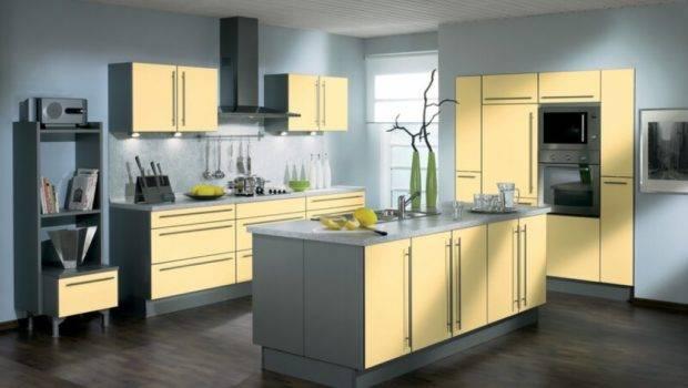 Yellow Kitchens Cottage Gray Grey