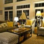 Yellow Purple Grey Living Room