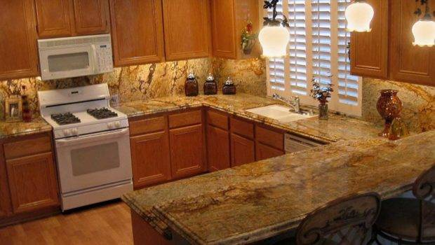 Yellow River Granite Kitchen Countertop Makeover Countertops