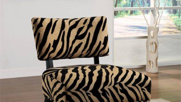 Zebra Print Accent Chair Decorating Living Room